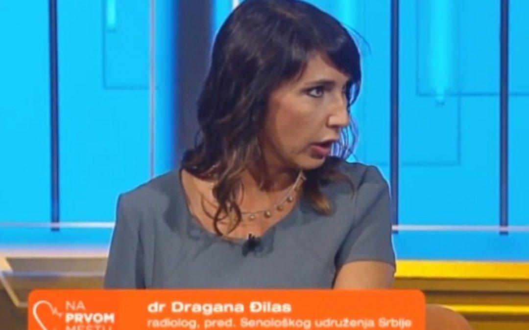 Predsednica Senološkog udruženja Srbije, prof. dr Dragana Đilas učesnik u emisiji Na Prvom Mestu